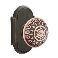 Emtek Hardware - Brass Designer Knobs - Privacy Lancaster Knob With #8 Rose in Polished Brass