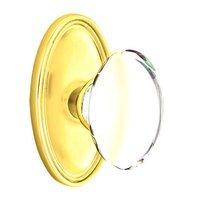 Emtek Hardware - Crystal Door Hardware - Hampton Passage Door Knob with Oval Rose in Oil Rubbed Bronze