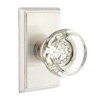 Emtek Hardware - Crystal Door Hardware - Georgetown Privacy Door Knob with Rectangular Rose and Concealed Screws in Oil Rubbed Bronze