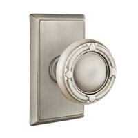 Emtek Hardware - Brass Designer Knobs - Privacy Ribbon & Reed Knob With Rectangular Rose in Polished Brass