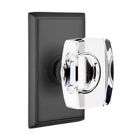 Emtek Hardware - Crystal Door Hardware - Windsor Passage Door Knob with Rectangular Rose in Oil Rubbed Bronze