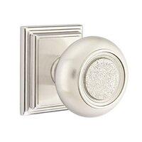 Emtek Hardware - Brass Designer Knobs - Privacy Belmont Knob With Wilshire Rose in Polished Brass
