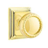Emtek Hardware - Brass Designer Knobs - Privacy Rope Knob With Wilshire Rose in Oil Rubbed Bronze