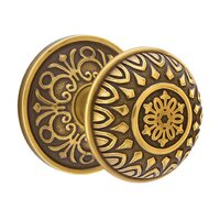 Emtek Hardware - Brass Designer Knobs - Privacy Lancaster Knob With Lancaster Rosette