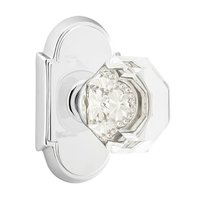 Emtek Hardware - Crystal Door Hardware - Old Town Privacy Door Knob with #8 Rose