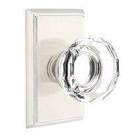 Emtek Hardware - Crystal Door Hardware - Lowell Privacy Door Knob with Rectangular Rose in Oil Rubbed Bronze