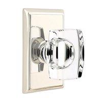 Emtek Hardware - Crystal Door Hardware - Windsor Privacy Door Knob with Rectangular Rose in Oil Rubbed Bronze