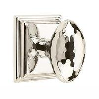 Emtek Hardware - Arts & Crafts Door Hardware - Privacy Modern Hammered Egg Door Knob with Wilshire Rose in Satin Nickel
