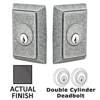 Emtek Hardware - Wrought Steel - Wrought Steel #3 Single Cylinder Deadbolt in Flat Black Steel