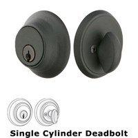 Emtek Hardware - Wrought Steel - Wrought Steel #2 Single Cylinder Deadbolt in Flat Black Steel