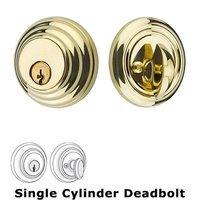 Emtek Hardware - Solid Brass Deadbolts - Low Profile Single Cylinder Deadbolt in Oil Rubbed Bronze