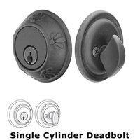 Emtek Hardware - Tuscany Deadbolts - Tuscany Single Cylinder Deadbolt in Flat Black Bronze