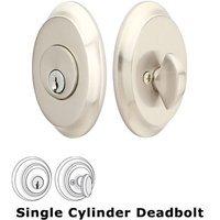 Emtek Hardware - Solid Brass Deadbolts - Saratoga Single Cylinder Deadbolt in Oil Rubbed Bronze