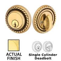 Emtek Hardware - Solid Brass Deadbolts - Rope Single Cylinder Deadbolt in Oil Rubbed Bronze