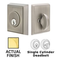 Emtek Hardware - Solid Brass Deadbolts - Rectangular Single Cylinder Deadbolt in Oil Rubbed Bronze