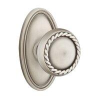 Emtek Hardware - Brass Designer Knobs - Privacy Rope Knob With Oval Rose in Oil Rubbed Bronze