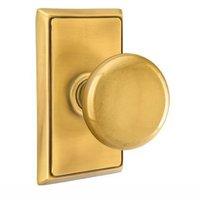 Emtek Hardware - Brass Classic Hardware - Privacy Providence Door Knob With Rectangular Rose in Oil Rubbed Bronze