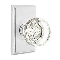 Emtek Hardware - Crystal Door Hardware - Georgetown Privacy Door Knob with Rectangular Rose in Polished Nickel