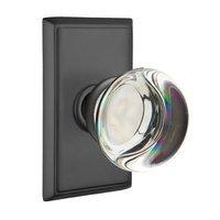 Emtek Hardware - Crystal Door Hardware - Providence Privacy Door Knob with Rectangular Rose in Oil Rubbed Bronze