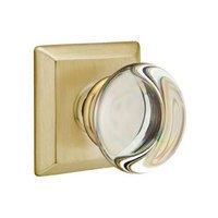 Emtek Hardware - Crystal Door Hardware - Providence Privacy Door Knob with Quincy Rose in Satin Nickel