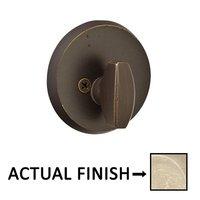 Emtek Hardware - Sandcast Bronze Deadbolts - Regular Single Cylinder Deadbolt in Flat Black Bronze