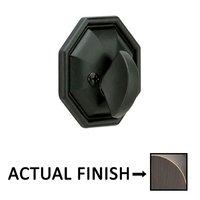 Emtek Hardware - Tuscany Deadbolts - Octagon Single Cylinder Deadbolt in Flat Black Bronze