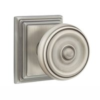 Emtek Hardware - Brass Classic Hardware - Privacy Waverly Door Knob With Wilshire Rose in Oil Rubbed Bronze