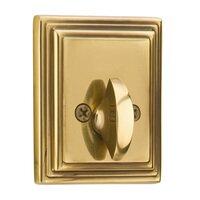Emtek Hardware - Solid Brass Deadbolts - Wilshire Single Cylinder Deadbolt in Oil Rubbed Bronze