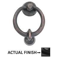 "Emtek Hardware - Door Accessories - 4"" Bronze Door Knocker in Flat Black Bronze"