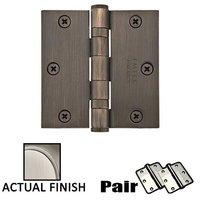 "Emtek Hardware - Door Accessories - 3-1/2"" X 3-1/2"" Square Heavy Duty Steel Ball Bearing Hinge in Flat Black"