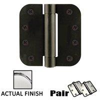 "Emtek Hardware - Door Accessories - 4"" X 4"" 1/4"" Radius UL Steel Spring Hinge in Flat Black"