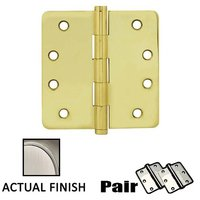 """Emtek Hardware - Door Accessories - 4"""" X 4"""" 1/4"""" Radius Solid Brass Residential Duty Hinge in Lifetime Brass"""