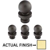 "Emtek Hardware - Door Accessories - Ball Tip Set For 3-1/2"" Heavy Duty Or Ball Bearing Solid Brass Hinge in Lifetime Brass"