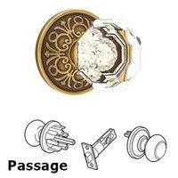 Emtek Hardware - Crystal Door Hardware - Old Town Passage Door Knob with Lancaster Rose and Concealed Screws in Oil Rubbed Bronze