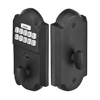 Emtek Hardware - Electronic Deadbolts - Sandcast Bronze Electronic Keypad in Flat Black Bronze