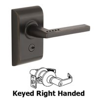 Emtek Hardware - Electronic Locksets - LISCIO Electronic Keypad Leverset with Bluetooth Programming with Left Handed Helios Lever in Oil Rubbed Bronze