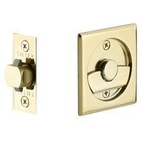 Emtek Hardware - Tubular Pocket Door Hardware - Tubular Square Privacy Pocket Door Lock in Flat Black