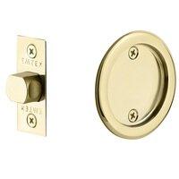 Emtek Hardware - Tubular Pocket Door Hardware - Tubular Round Passage Pocket Door Lock in Flat Black