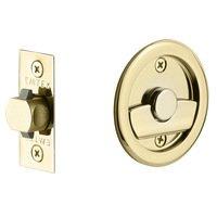 Emtek Hardware - Tubular Pocket Door Hardware - Tubular Round Privacy Pocket Door Lock in Flat Black