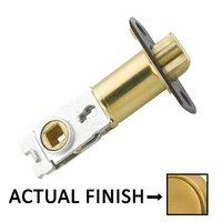 "Emtek Hardware - Door Accessories - Radius Corners Key In Latch with 2 3/8"" Backset in Polished Brass"