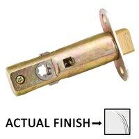 "Emtek Hardware - Door Accessories - Passage Standard Latch with 2 3/8"" Backset in Polished Brass"