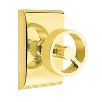 Emtek Hardware - Studio Brass - Passage Neos Rosette with Right Handed Spoke Knob in Satin Brass