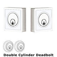 Emtek Hardware - Contemporary Color Deadbolts - Martinique Inlayed Double Cylinder Deadbolt in Caribbean Blue
