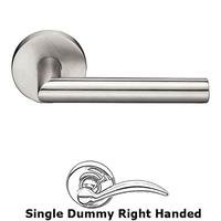 Emtek Hardware - Stainless Steel - Single Dummy Left Handed Stuttgart Door Lever With Stainless Steel Disk Rosette