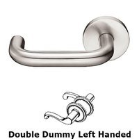 Emtek Hardware - Stainless Steel - Cologne Left Hand Dummy Set Door Lever With Stainless Steel Disk Rosette