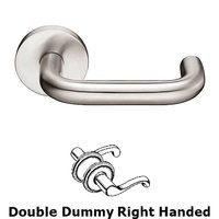 Emtek Hardware - Stainless Steel - Cologne Right Hand Dummy Set Door Lever With Stainless Steel Disk Rosette