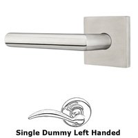 Emtek Hardware - Stainless Steel - Stuttgart Left Hand Privacy Door Lever With Brushed Stainless Steel Square Rose