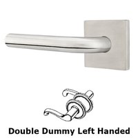 Emtek Hardware - Stainless Steel - Kiel Left Hand Privacy Door Lever With Brushed Stainless Steel Square Rose