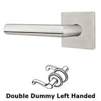 Emtek Hardware - Stainless Steel - Stuttgart Left Hand Double Dummy Door Lever With Brushed Stainless Steel Square Rose
