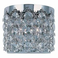 ET2 Lighting - Dazzle - Double Wall Sconce in Polished Chrome with Crystal Glass